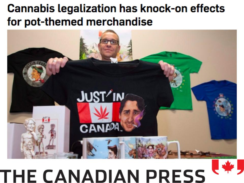 Crowns CEO Rebecca Brown comments on cannabis merchandise and fashion for the Canadian Press