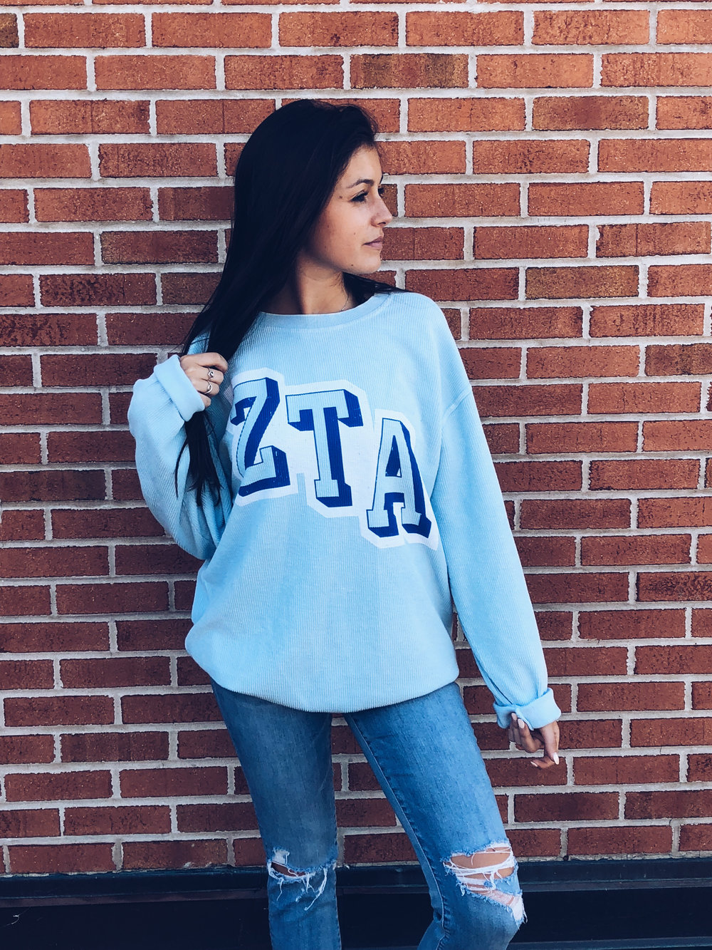 7. Charles River Apparel Corded Crewneck - Our softest sweatshirt. Ever. Soft, distressed and oversized!
