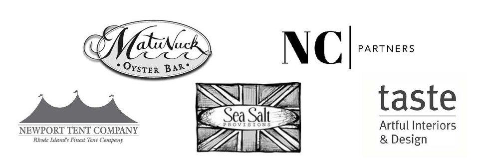 Matunuck Oyster Bar ,  NC Partners,   Newport Tent Company ,  Sea Salt Provisions ,  taste Artful Interiors & Design