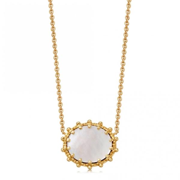 Astley Clarke Mother of Pearl Floris Pendant - £135