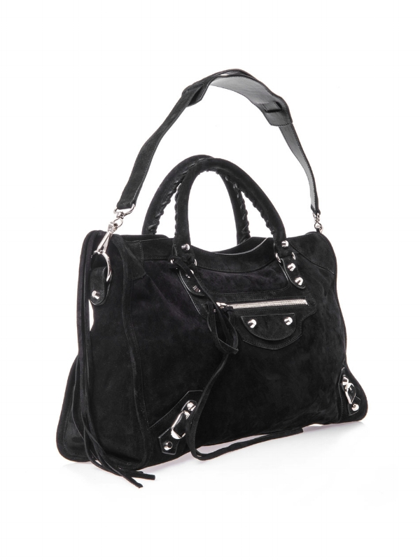Balenciaga Suede City Bag