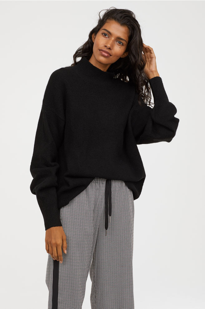 Knitted Polo Neck Jumper H&M