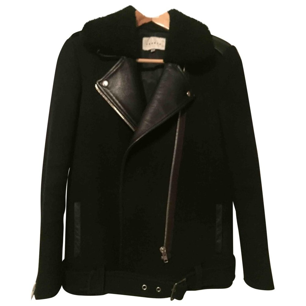 Wool Biker Jacket Sandro