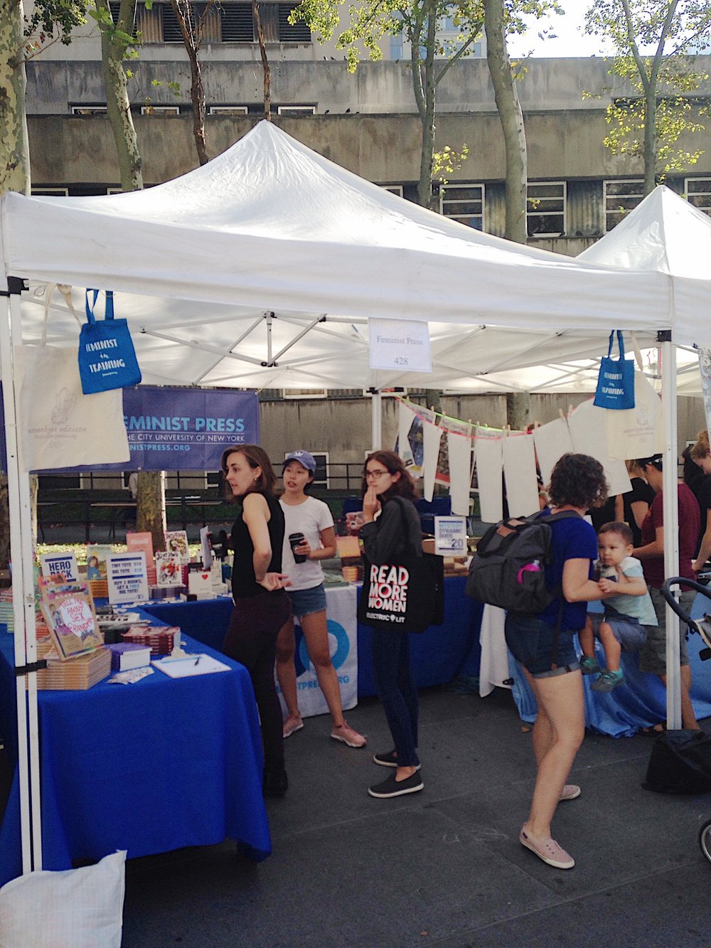 The Feminist Press booth