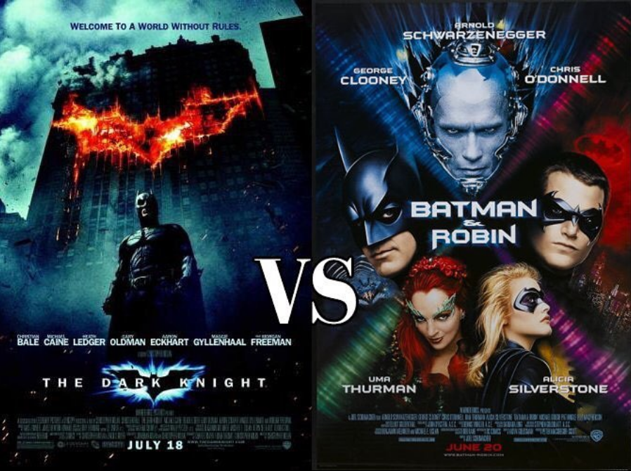 The Dark Knight vs Batman & Robin