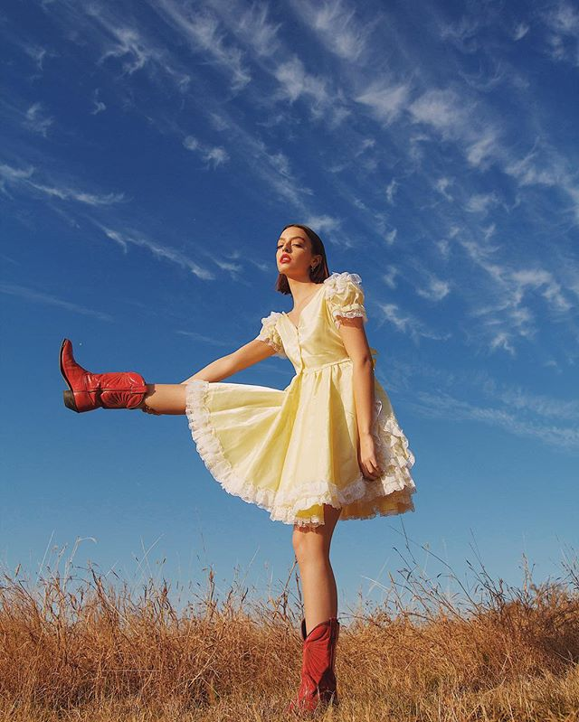 Girl in the red boots