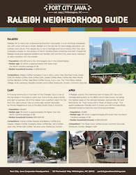 2019 Raleigh Neighborhood Guide
