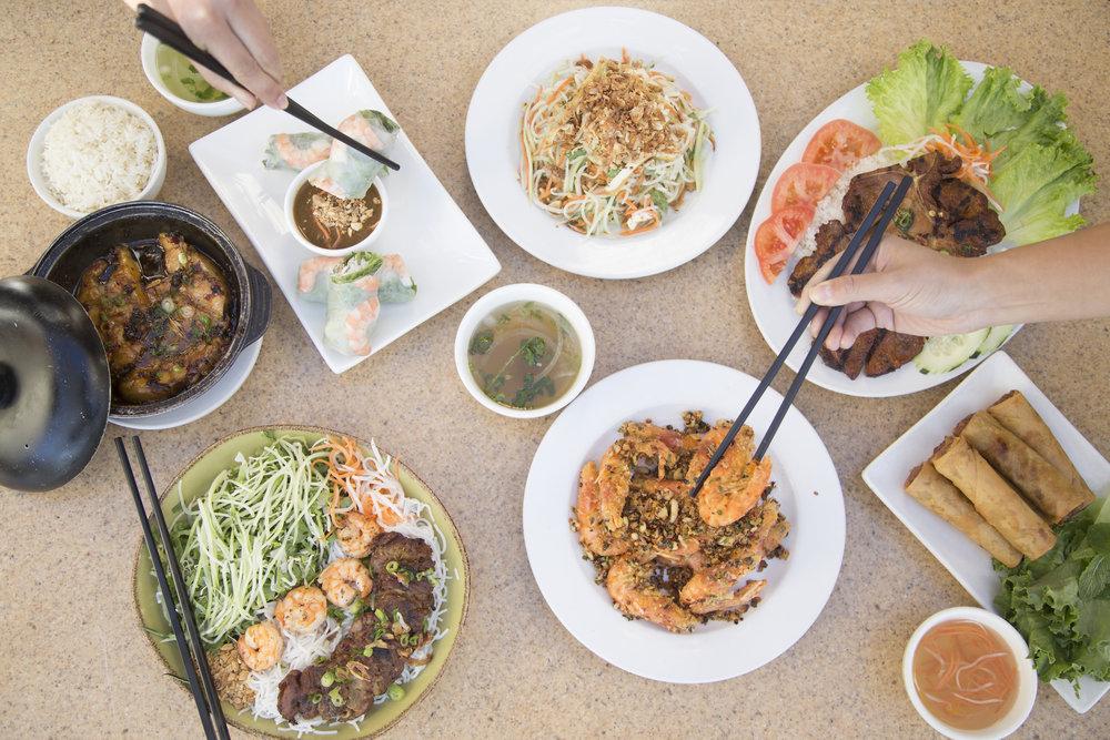 Authentic Vietnamese foods.