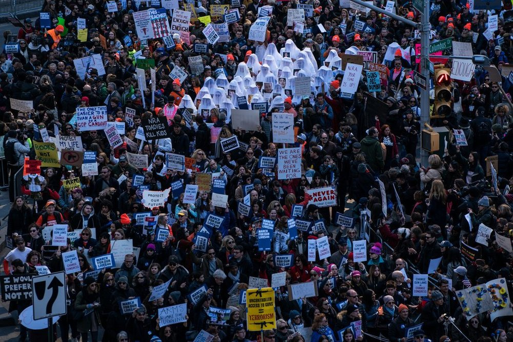 NYC's March for our Lives, photo via  The New York Times