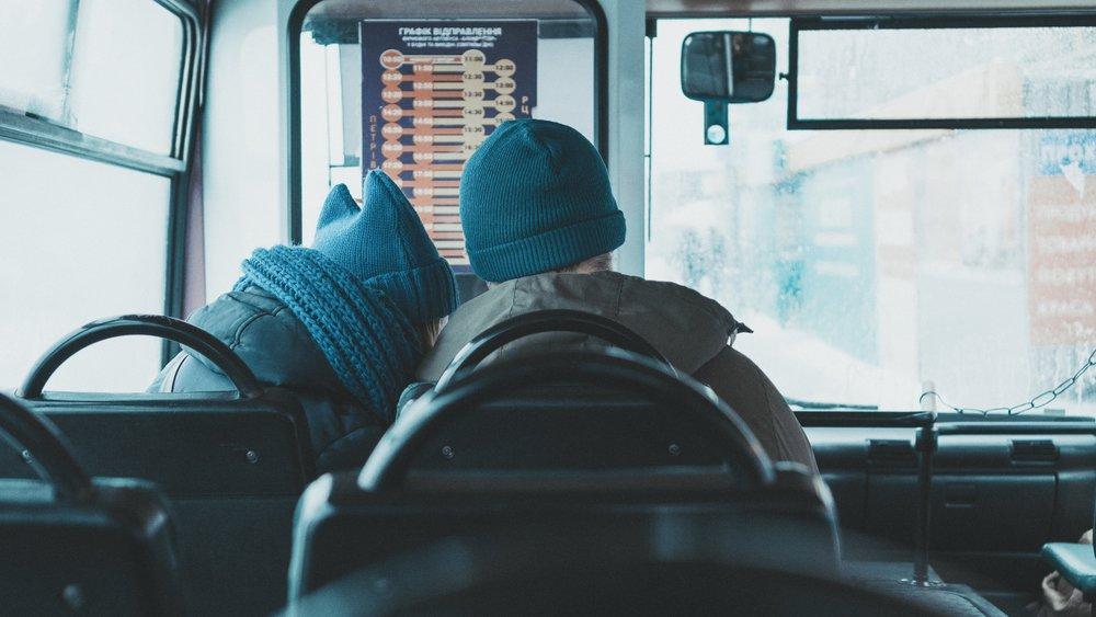 Pretending this couple met on public transportation