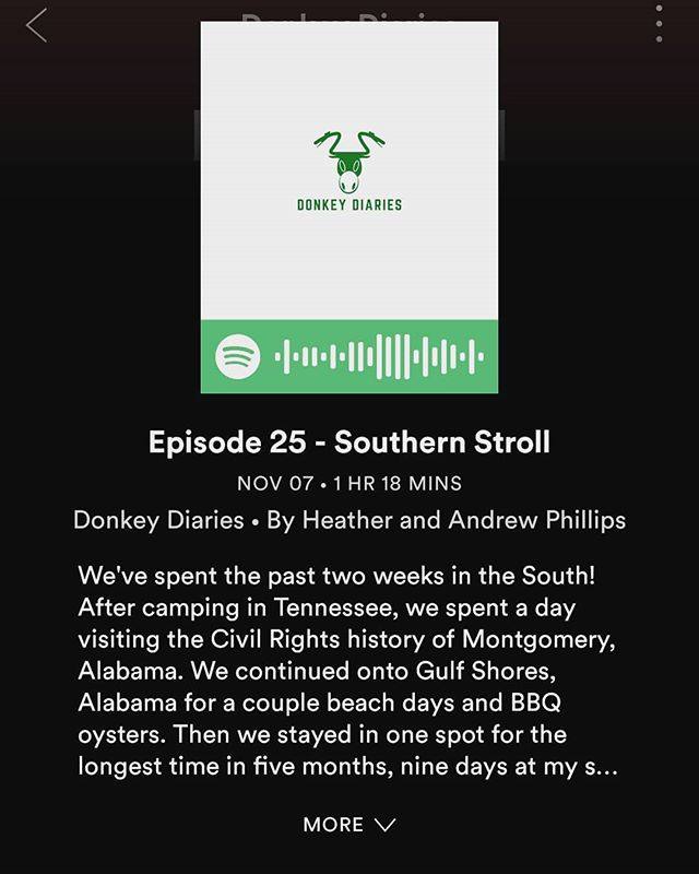 New podcast up about our stroll through the South, including Montgomery, Gulf Shores, and Baton Rouge! We had a total blast staying with my sister and family for our favorite holiday, Halloween.  Check it out on Stitcher, Spotify, TuneIn, Patreon, or our website.