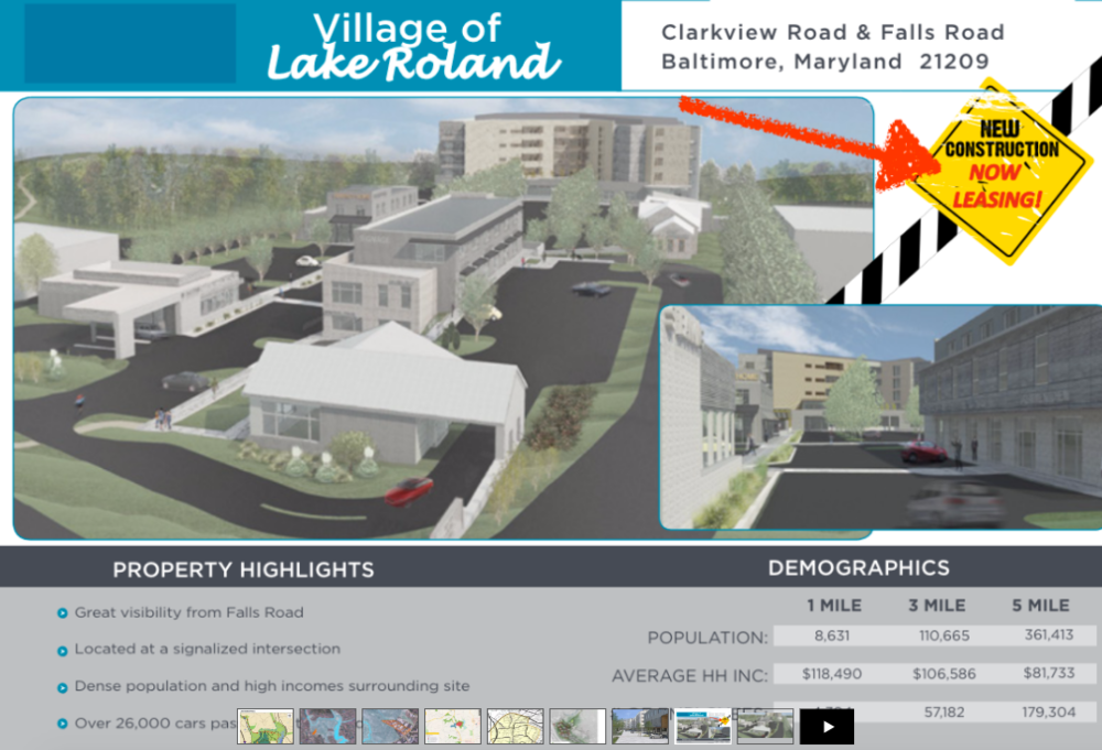 Brochure mockup of Village of Lake Roland