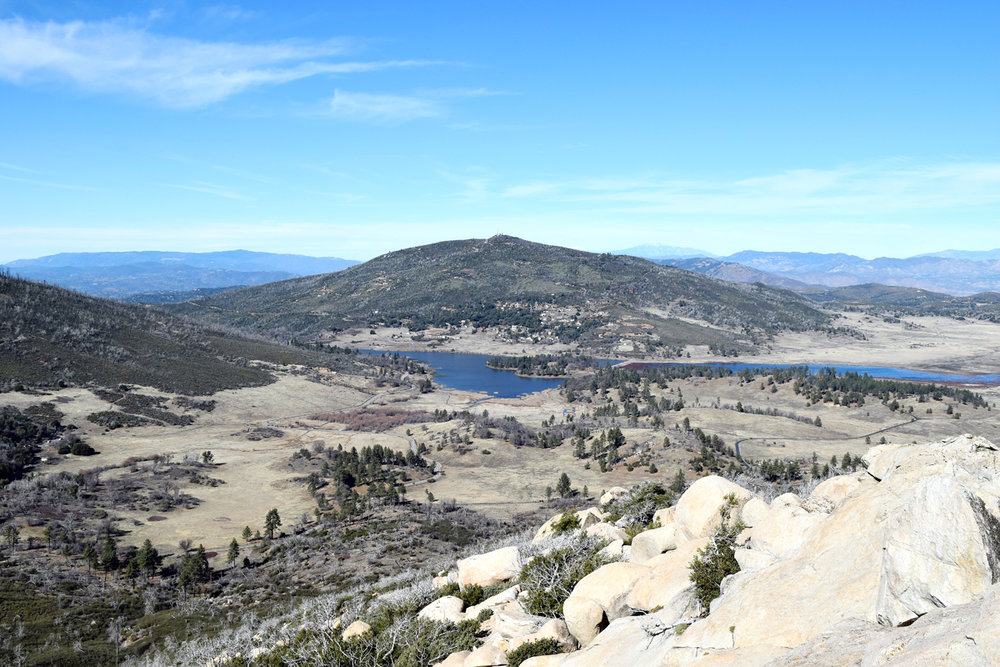 Cuyamaca Rancho State Park -  Hwy. 79, 5 miles north of I-8 • 760-765-3020 • Visit parks.ca.gov for more information.Trail maps and information are available at Paso Picacho and Green Valley Falls camp kiosks, 8-4 daily.Cuyamaca Peak: 3.5-mile hike from Paso Picacho at 5,000 feet to elevation of 6,512 feet. Views of deserts to the east, coast to the west and Lake Cuyamaca at the bottom.Paseo Nature Trail: Easy .5-mile loop, scenic and level.Indian Trail: Easy .75 mile one way. Well-marked trail to seasonal waterfall. Best in spring and early summer.Green Valley Falls Trail: Approximately 4.5-mile loop.Azalea Glen Loop Trail: Moderate 3.6 miles. Yearround stream. Native Kumeyaay grinding holes may be seen about .5 mile from trailhead.Juaquapin Trail: Moderate 3 miles, scenic loop climbing via East Site Trail with a steep return by Dyar Spring Trail.Conejo Spring Trail: Moderately strenuous 3.5 miles to summit. Rugged ascent over north shoulder of Cuyamaca Peak. Connects to paved road leading to summit. Descent to campground by paved fire road.Stonewall Peak Trail: Moderately strenuous round trip of 4 miles, 900 feet gain in elevation, 360-degree view at top.Oakzanita Peak Trail: Moderately strenuous 8-mile loop with 1,300 feet gain in elevation, and 5-mile loop with 1,200 feet gain in elevation.