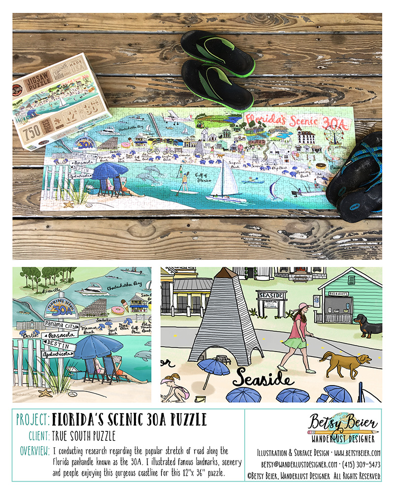 30A Florida Puzzle by Betsy Beier
