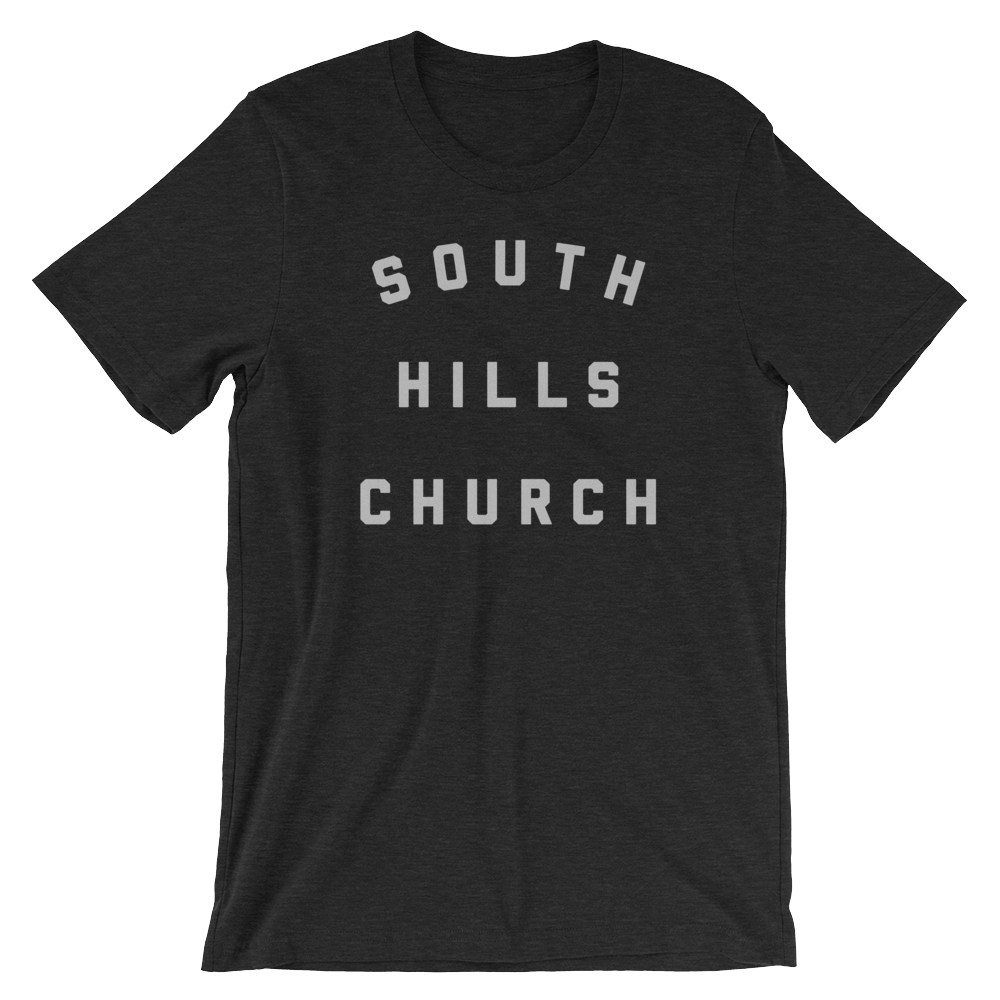 SHC-stacked-shirt-front-and-back-white_mockup_Front_Wrinkled_Black-Heather.png