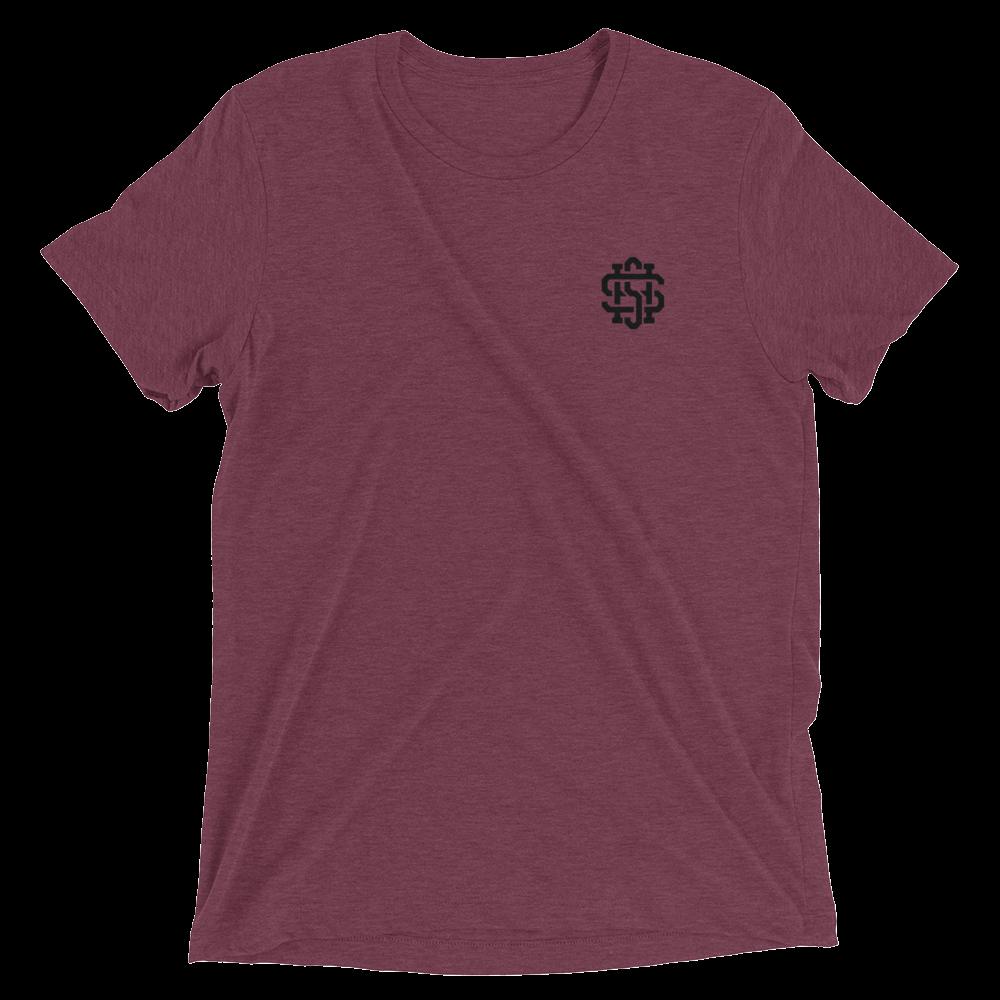 SHS-Shirt---FT-LF-Pocket_SHS-Shirt---BK-Leader-BACK_mockup_Front_Flat_Maroon-Triblend.png