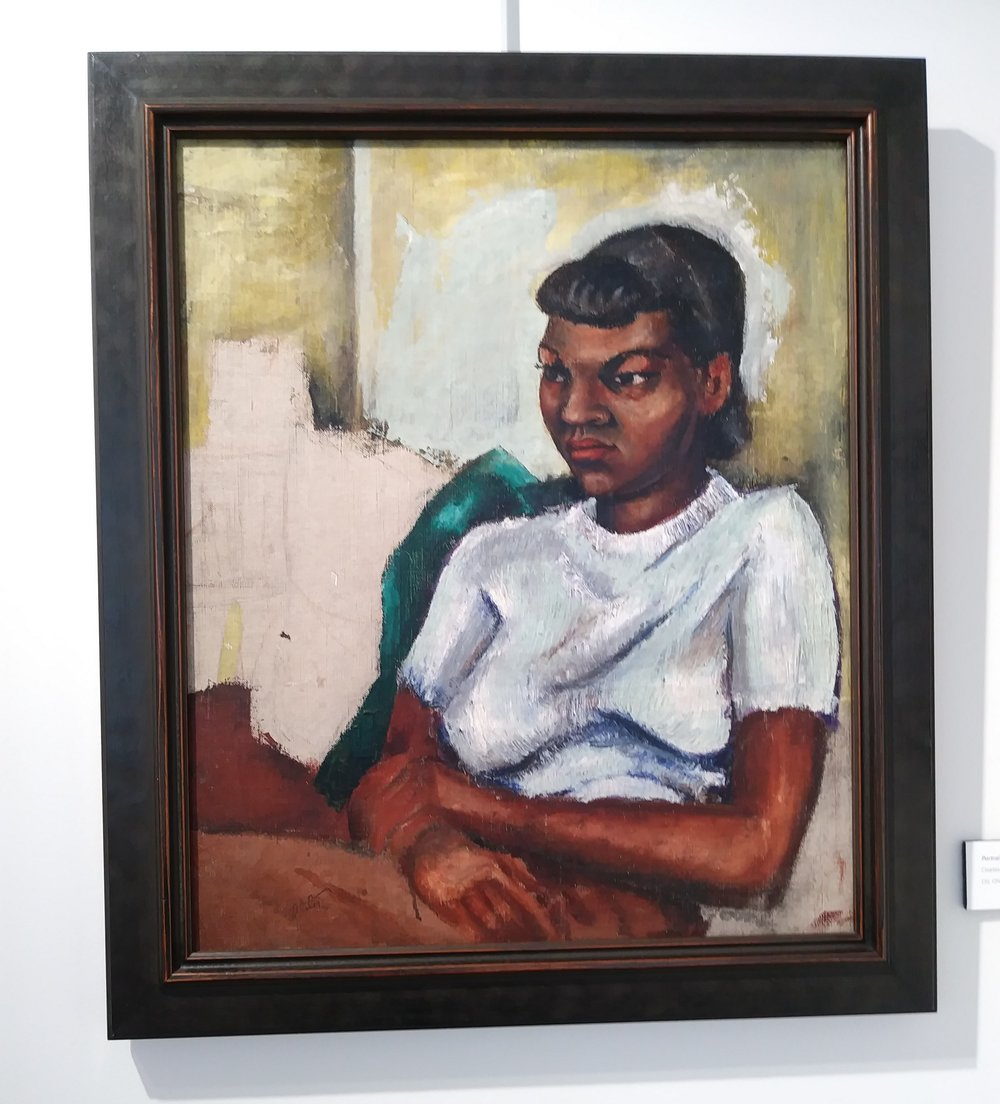 Portrait of Girl, 1940, Charles Alston (African American 1907-1977) Oil on canvas