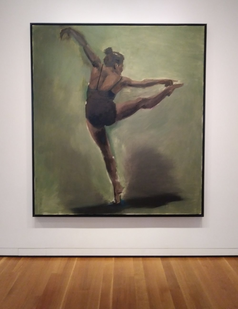 Transprung , 2013 oil on canvas by Lynette Yiadom-Boakye. Seattle Museum of Art
