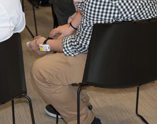 NeuroLynQ Sensor worn on the hand