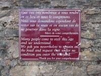 Sign at Domaine de la Romanée-Conti, Photography by Jim Law