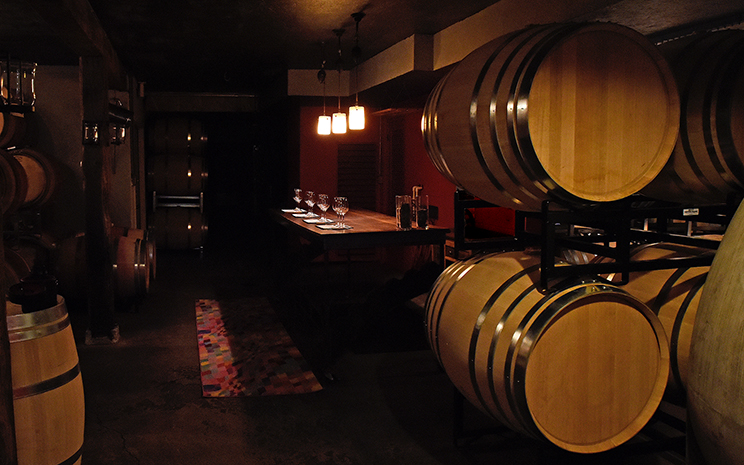 The Linden Vineyards Cellar
