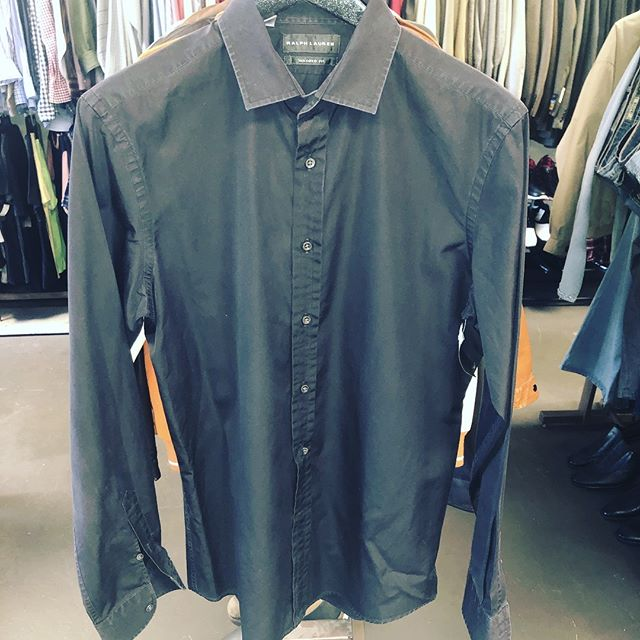Vintage Ralph Lauren Black Label Dress Shirt Tailored Fit Size Large Size 16 Neck $15 Today Only #sanantonioresale #sanantonio #consignment