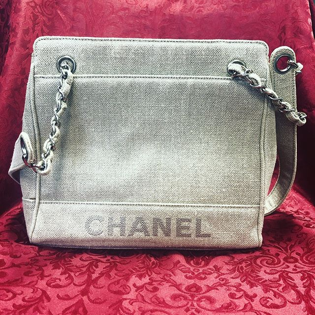 **Valentine's Day Gifts** Chanel Canvas Handbag #chanel #sanantonio #consignment #saretail #designer