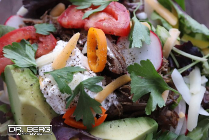 Shredded Beef Salad
