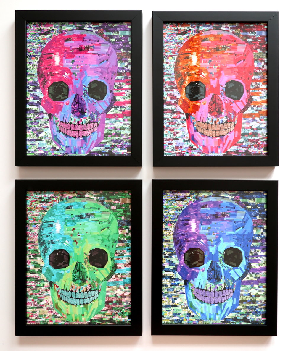Skulls Quadriptych