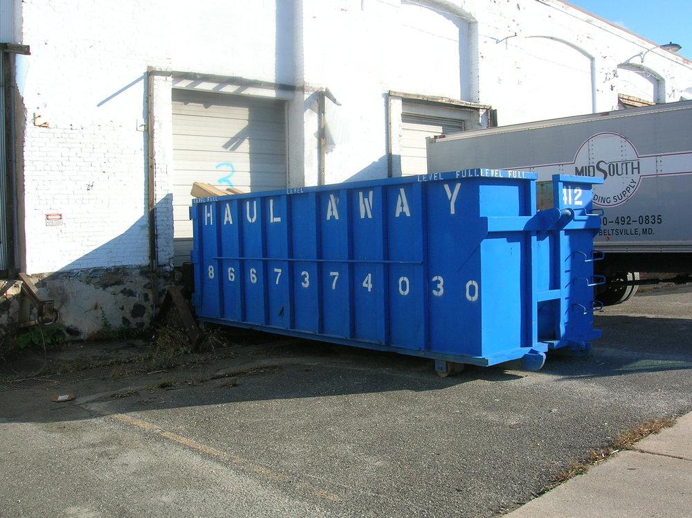 30 Yard Dumpster: 6h' x 8w' x 19L'
