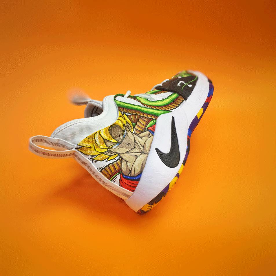 """Nike PG2 """"Super Saiyan"""" para Luka Doncic."""