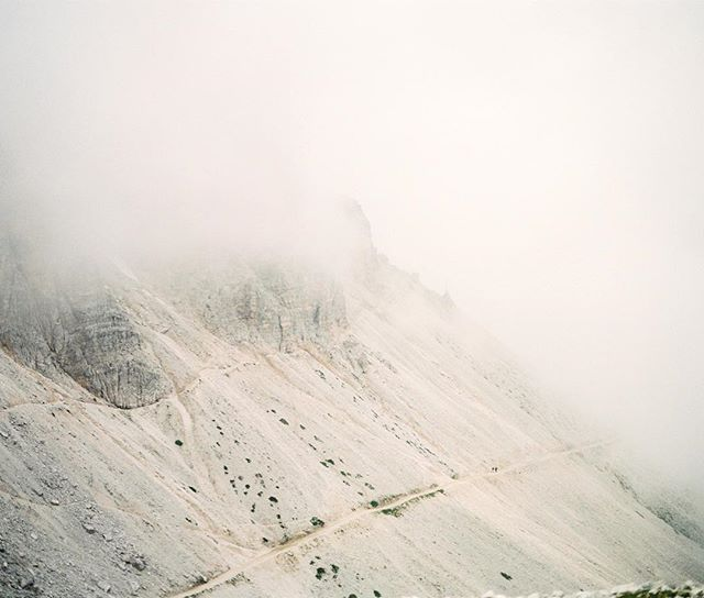 Early morning at Tre Cime. It's foggy, serene and yet quiet.  #analogfotografie #filmforever #outboundcollective #filmphotography #analoglove #fuji400h #dolomites #dolomiten #dolomitiamo #dolomiti_emotions #makeadventure #mountainlovers #bergwandern #südtirol #southtyrol #southtyrolwedding #southtyrolian #toblach #photobugcommunity #mamiya645 #mediumformat #mediumformatfilm #filmisnotdead #find #filmpalette #filmcollective #120love