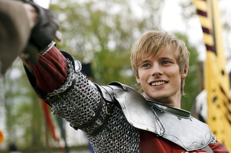 Bradley James as Prince/King Arthur on the hit show,  Merlin .