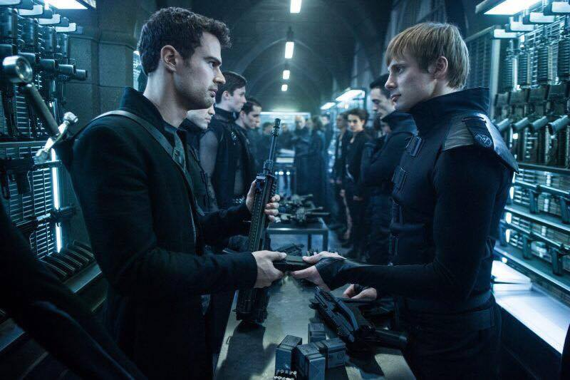 Bradley in a scene from Underworld: Blood Wars with Theo James (he played Tobias Eaton in  Divergent )