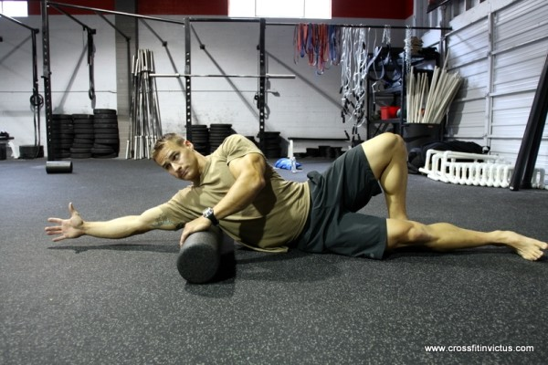 Watch out for the lateral edge of your shoulder blade when rolling your lats.....