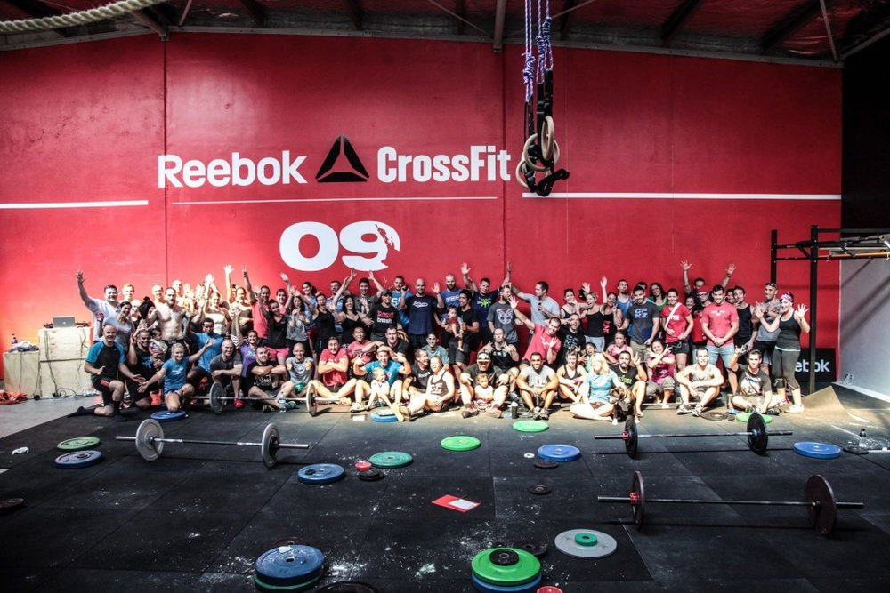 The first official workout at Reebok CrossFit 09 was The Open 13.1!