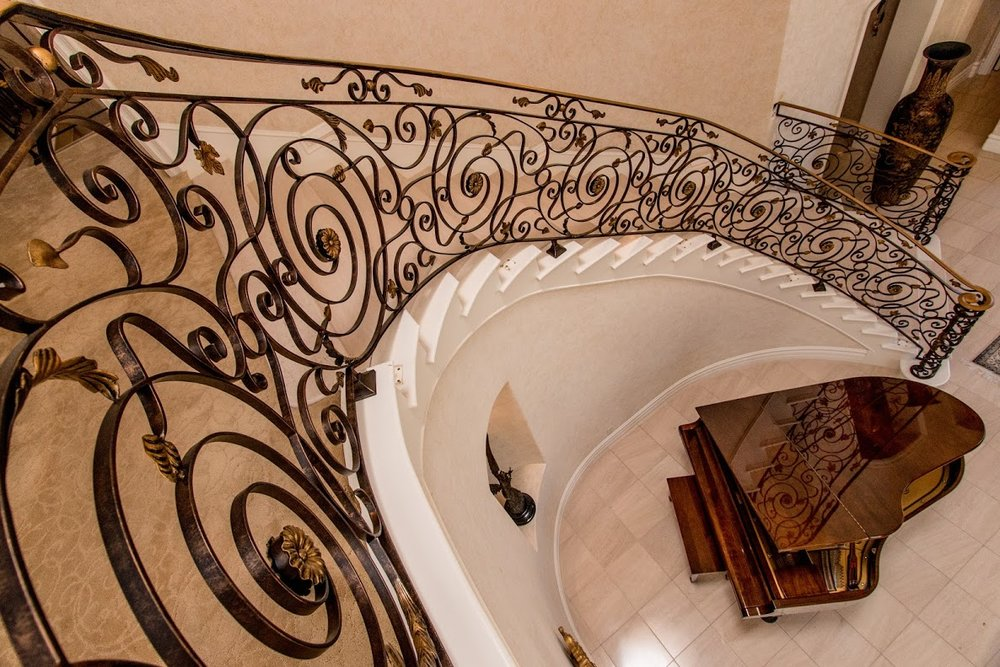 Custom, Hand Forged Ornate Designed Railings, Staircases, Gates, Balconies and More.