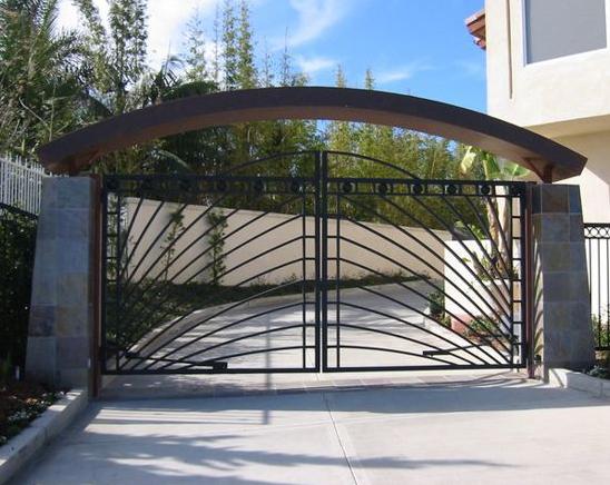 Custom Modern Driveway gates in Orange County, California