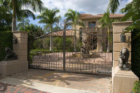 Custom, Hand Forged Ornate Designed Driveway gates in Orange County, California