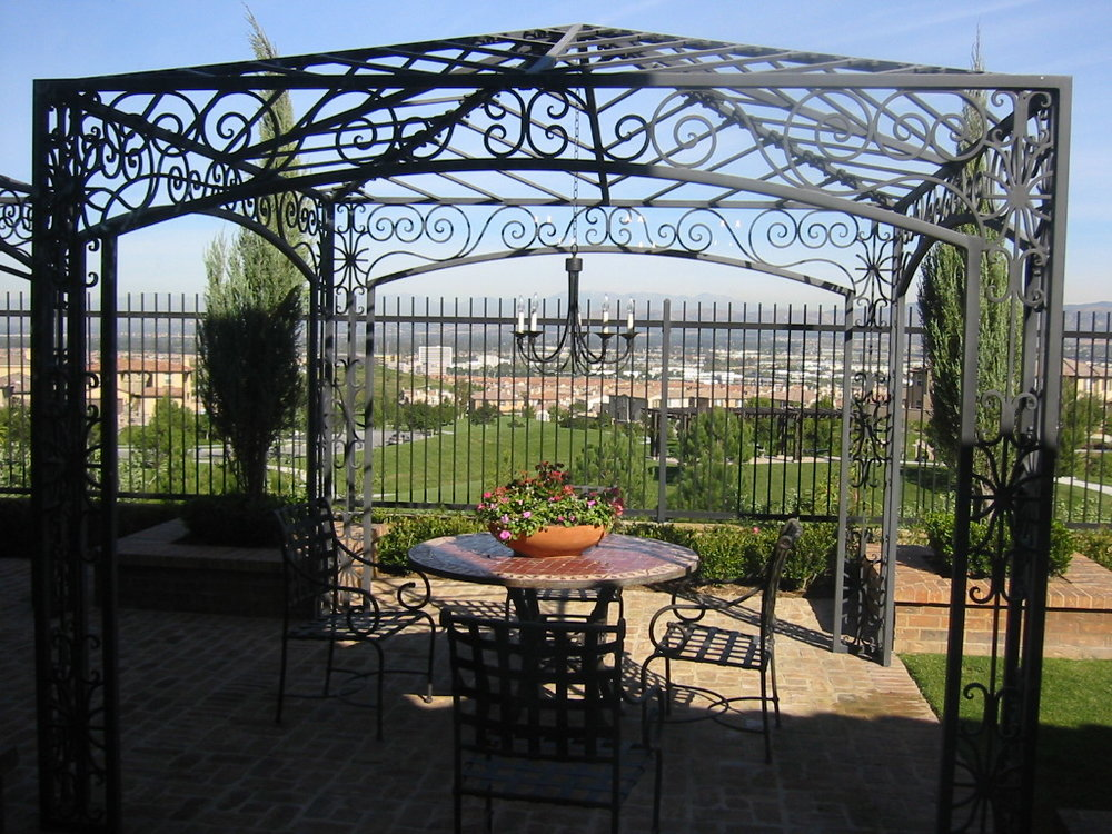 Custom, Hand Forged Ornate Designed Gazebos and Trellises in Orange County, California