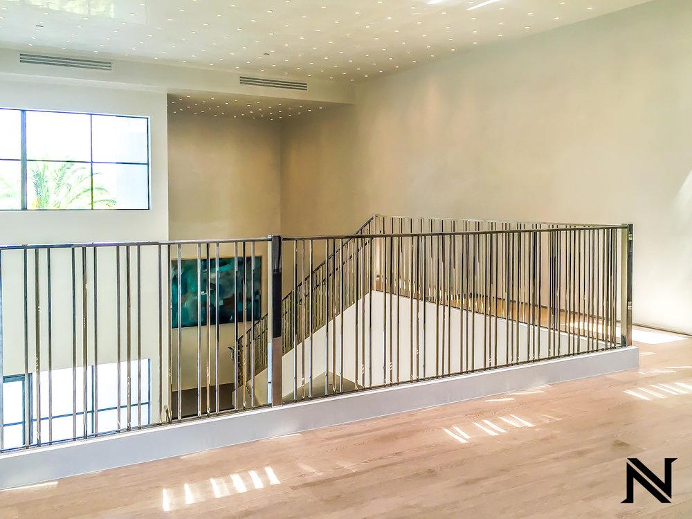 Beautiful, Luxurious Modern Stair Railing in Beverly Hills, California