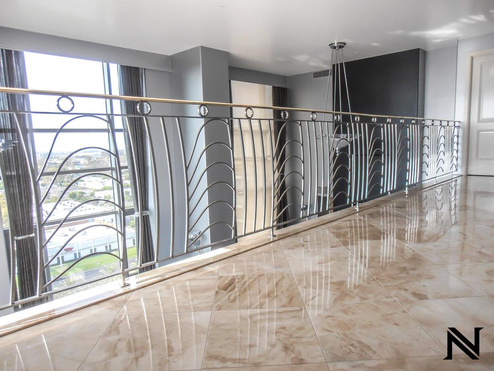 Luxurious Modern Stair Railing in Irvine, California