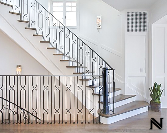 Custom Modern Stair Railing in Newport Beach, California
