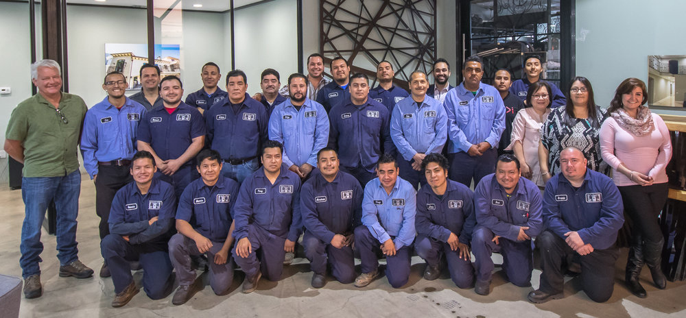 Our entire team of hardworking, dedicated workers at Naddours Custom Metalworks