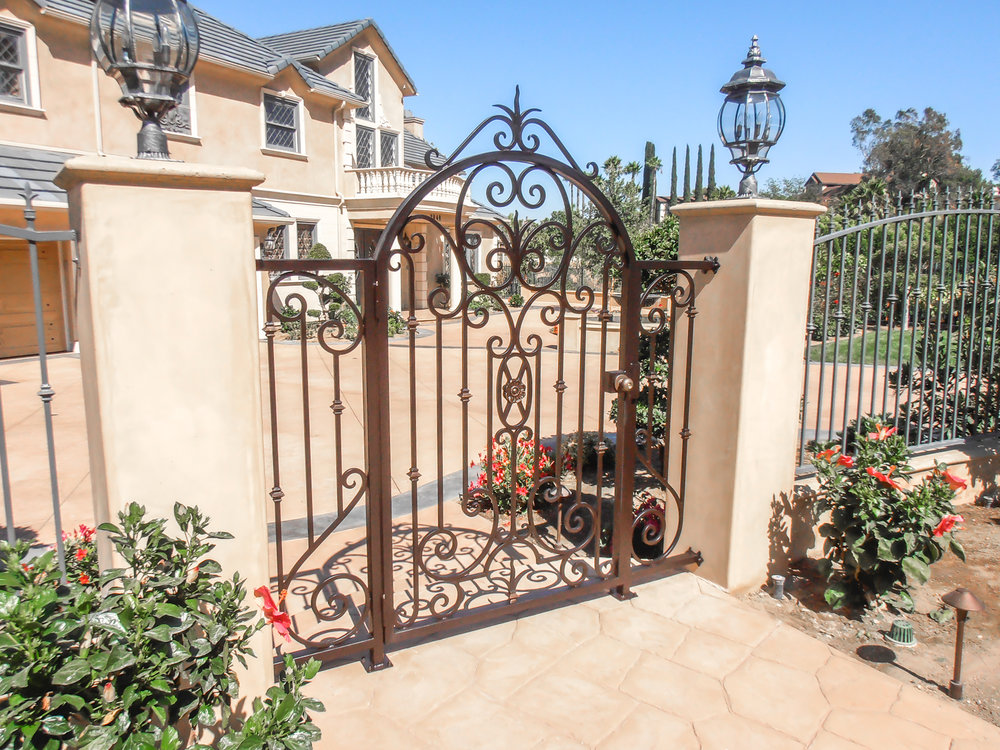 Custom, Hand Forged Ornate Designed Stair Railing in Orange County, California