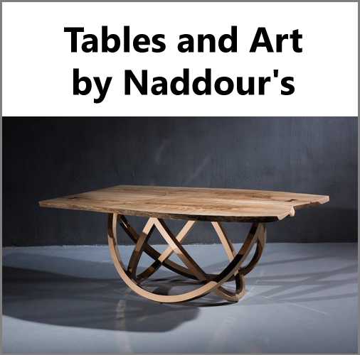 Tables & Art - Naddour's Custom Metalworks Hand Forged Designs Serving Orange County, Los Angeles County, San Diego, and Northern California