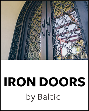 Baltic Iron Doors - Naddour's Custom Metalworks Hand Forged Designs Serving Orange County, Los Angeles County, San Diego, and Northern California