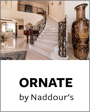 Ornate Collection by Naddour's Custom Metalworks Staircase Railings Balcony Railings Driveway & Pedestrian Gates Gazebos & Trellises