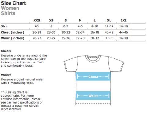 sizeChart - Womens Shirts.png