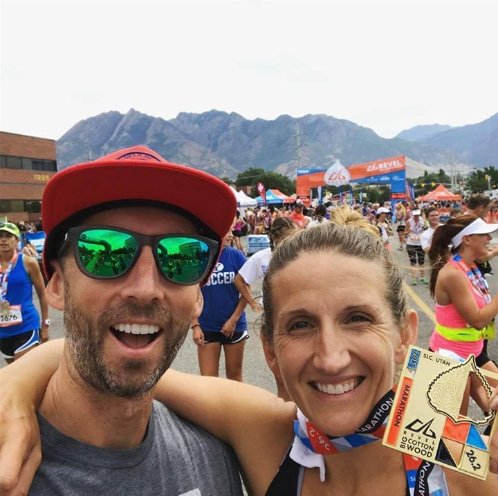 """BQ - """" Boston would not have happened without the knowledge, planning, tracking and encouragement from Josh Cagwin whose coaching allowed me to drop nearly 25 minutes off my marathon time to qualify for Boston with a 3:35:42 at the Revel Big Cottonwood in September of last year. That was certainly the highlight of my 'running career'. """" - Lauren"""
